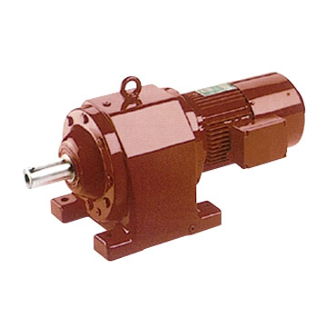 Helical worm-gear-reducer-